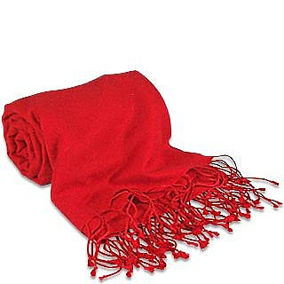 Red Pashmina & Silk Shawl - Forzieri