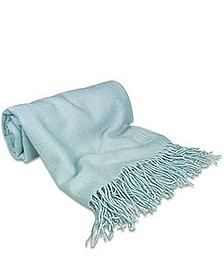 Powder Blue Pashmina Shawl - Forzieri