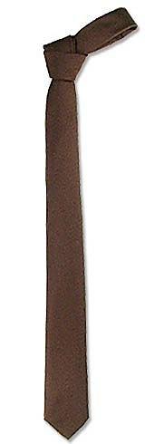 Cravate étroite en soie tissée marron - Forzieri