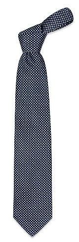 Corbata Seda Extralarga Cuadros Azules - Forzieri