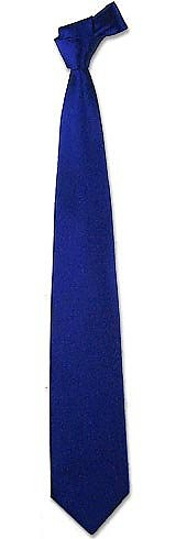 Solid Navy Blue Extra-Long Tie - Forzieri