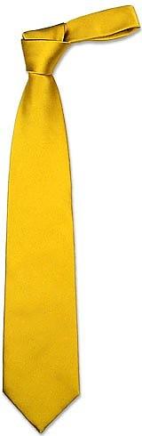 Cravatta extra-long giallo oro tinta unita Forzieri WS19Ch