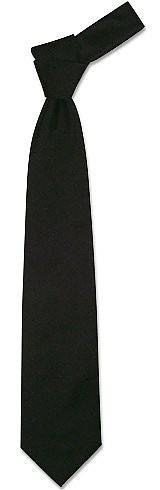 Solid Black Extra-Long Tie - Forzieri