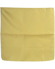 Light Yellow Silk Pocket Square - Forzieri