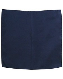 Navy Blue Silk Pocket Square - Forzieri
