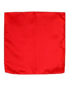 Red Silk Pocket Square - Forzieri