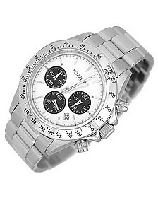 Porto Cervo White Dial Chronograph Watch  - Forzieri