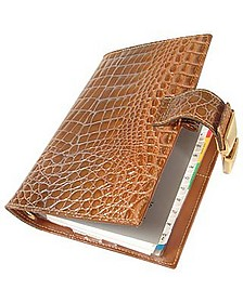 Stamped Alligator Leather Planner - Forzieri