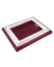 Sterling Silver & Mahogany Wood Jewelry Tray - Forzieri