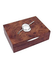 Equestrian Sterling Silver & Wood Decorated Jewelry Box - Forzieri