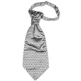 Plastron in Silber mit einem Ende vorne - Forzieri