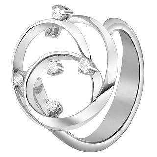 Diamond Coil 18K White Gold Ring - Forzieri