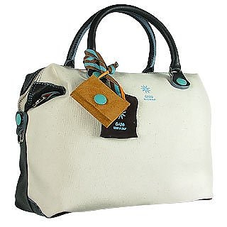 G3 - Black Convertible Canvas and Leather Handbag - Gabs