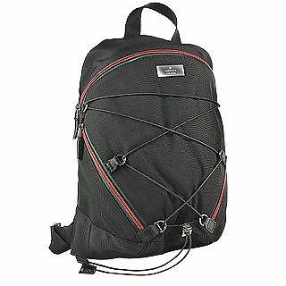 68ce31050e3 Gucci Black Signature Zippered Canvas Backpack at FORZIERI
