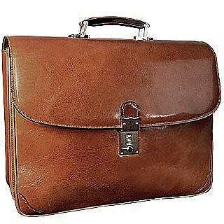 Classic Sand Leather Briefcase - L.A.P.A.