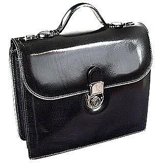 Classic Black Leather Briefcase - L.A.P.A.