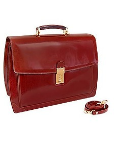 Cognac Leather Briefcase - L.A.P.A.