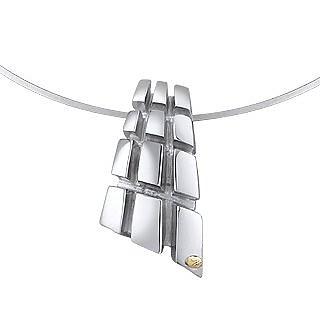 Manhattan - Sterling Silver Drop Pendant - Masini