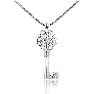 Love Key Pendant on Sterling Silver Chain - Masini