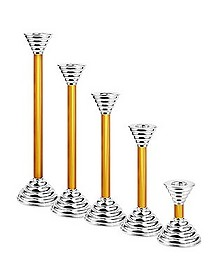 Luce - Amber Murano Glass and Sterling Silver Candleholder - Masini