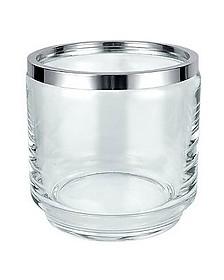 Glass and Silver Ice Bucket - Masini