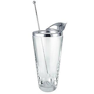 Martini Silver and Glass Pitcher Set - Masini