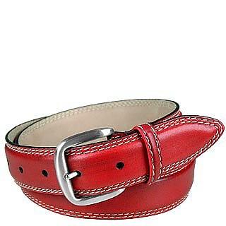 nuovo prodotto afdf2 0bc12 Manieri Cintura da Uomo in Pelle Rossa