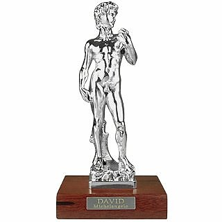 Michelangelo's David Sculpture Layered in Sterling Silver - Morpier Firenze