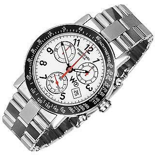 W1 - Weiße Chronographen-Uhr aus Edelstahl mit Tachometer - Raymond Weil