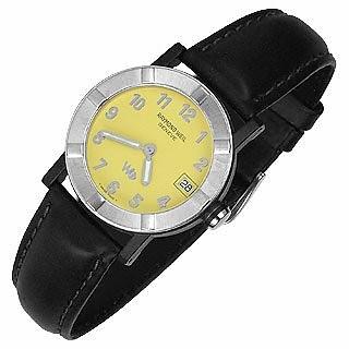 Parsifal W1 - Gelbe Damen-Uhr aus Edelstahl & Leder mit Datumsanzeige - Raymond Weil