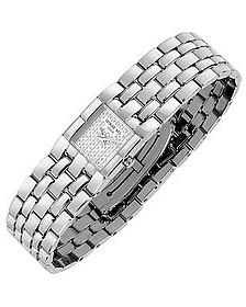 Ladies' Diamond Pave Dial Stainless Steel Watch - Raymond Weil