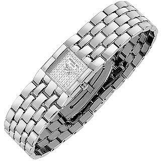 여성용 다이아몬드 페이브 스테인레스 시계 - Raymond Weil