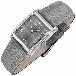 Don Giovanni - Modische Damenuhr mit Diamanten und Satinarmband in grau - Raymond Weil