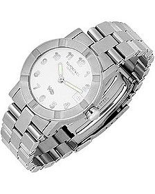 Parsifal W1 - Women's White Dial Stainless Steel Date Watch - Raymond Weil