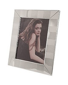 Sterling Silver Guilloche' Picture Frame - Forzieri