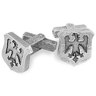 Sterling Silver Eagle-Crest Cufflinks - Torrini