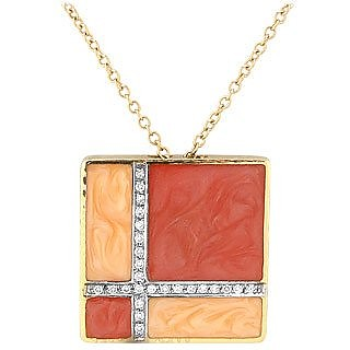 Dadaisme - 18K Gold and Enamel Diamond Necklace - Torrini