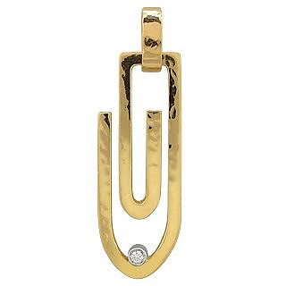 Clips - 18K Yellow Gold Pendant with Diamond  - Torrini