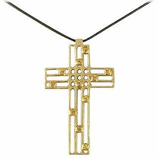 Flow - Sapphire & Yellow Gold Cross - Torrini