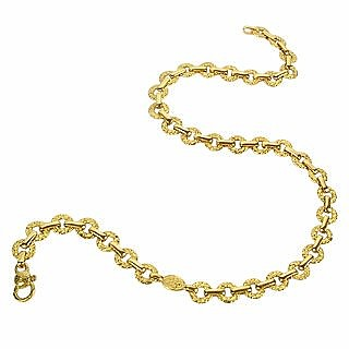 Etrusca  - 18K Yellow Gold Small Chiselled Chain - Torrini