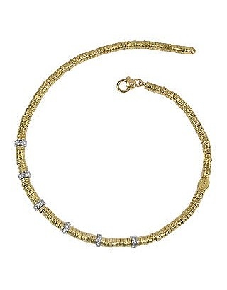 Rondelle Moving Big - 18K Yellow Gold and Diamond Necklace - Torrini