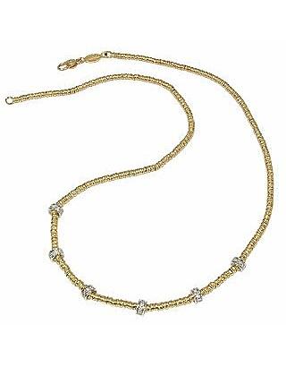 Rondelle Moving Mini - 18K Yellow Gold and Diamond Necklace - Torrini
