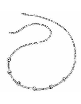 Rondelle Moving Mini - White Gold and Diamond Necklace - Torrini