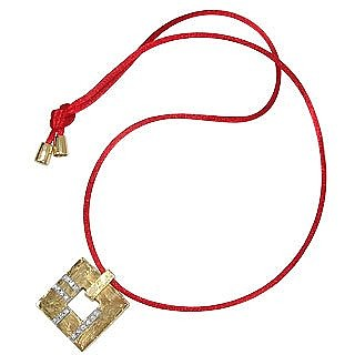 Amore - Gold and Diamonds Open Square Pendant - Torrini