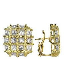 Wallstreet - 18K Yellow Gold Diamond Earrings - Torrini