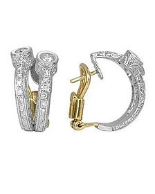 Liu Collection - 18k White Gold and Diamond Earrings - Torrini