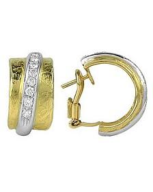 Nancy - 18K Yellow Gold and Diamond Earrings - Torrini