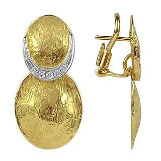 Lenticchie - 18K Gold and Diamond Earrings - Torrini