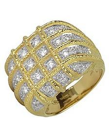 Wallstreet - 18K Yellow Gold Diamond Ring - Torrini