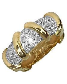 Twister - 18K Yellow Gold Diamond Ring  - Torrini